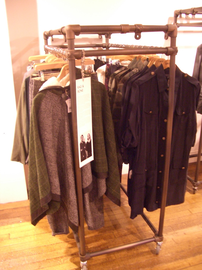 Free Standing Clothing Rail Double Simplified Building