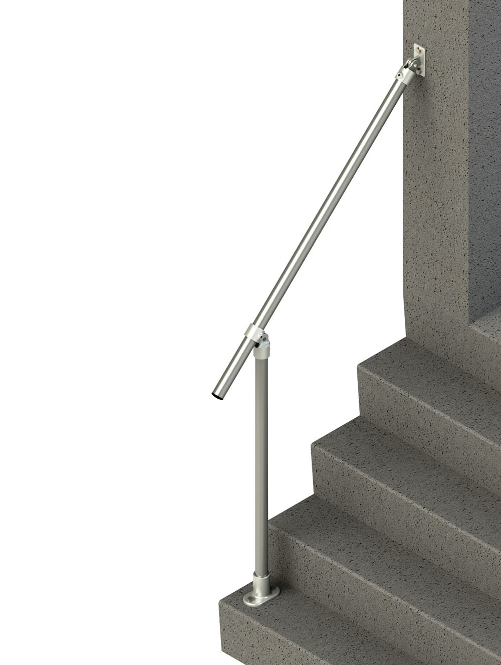 Sr C50c58 Adjustable Wall To Floor Accessibility Stair