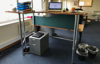 Customised Desk With Adjustable Height