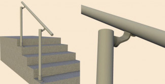 Simple Aluminium Handrail Kit For Steps
