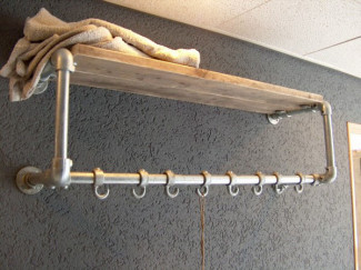 Create Your Own DIY Coat Hanger and Shelf Combo - Simple But Effective