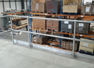 Safety Rails For Mezzanine Edges