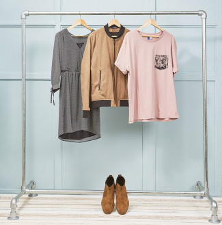 Heavy Duty Freestanding Clothing Rail - Single