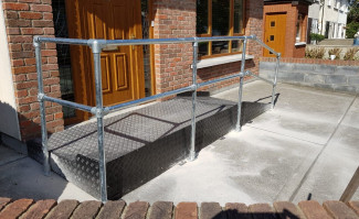 Ramp Safety Barrier-Wheelchair Access