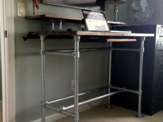Diy Standing Desk Using A Table Kit