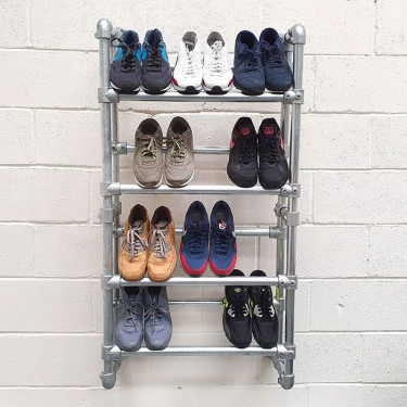 Retail Shoe Rack - Wall Mounted
