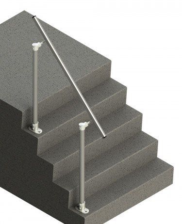 SR-518 - Topfixed Offset Fixed Stair Handrail