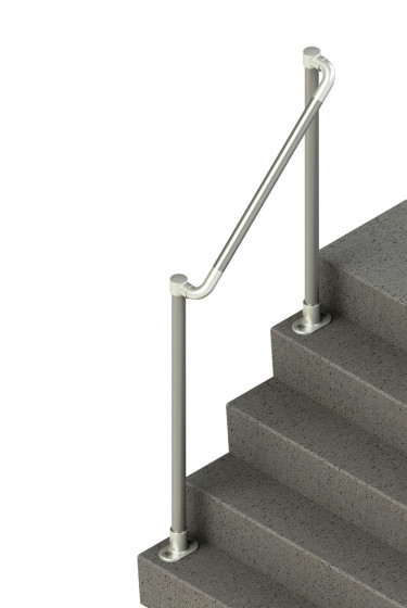 SR-567 - Topfixed Offset Stair Handrail Terminated To Post