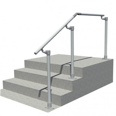 STL-518 Steps To Landing Offset Handrail (any angle)