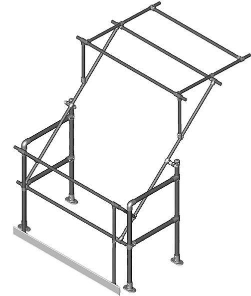 Narrow Pallet Gate (for pallets 1300mm wide x 1650mm high)