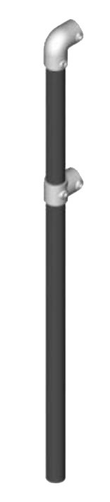 Preassembled Guardrail End Post without base