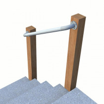 SR-565 - Wall Offset - Terminated Wall Mounted Handrail