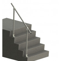 steel handrail for steps - inline rail
