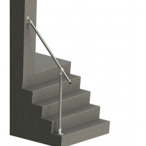 SR-029C58 - Fixed Wall-to-Floor Accessibility Stair Handrail