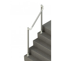 nda smooth steel handrail for steps