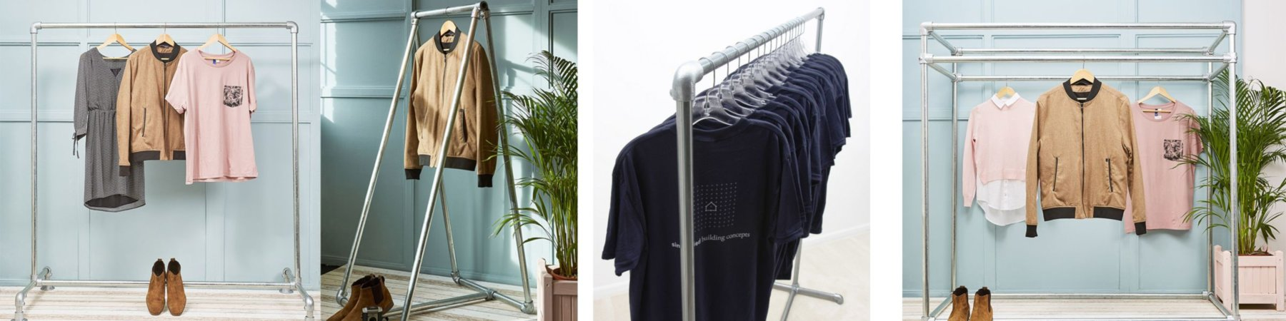 durable steel clothing rails