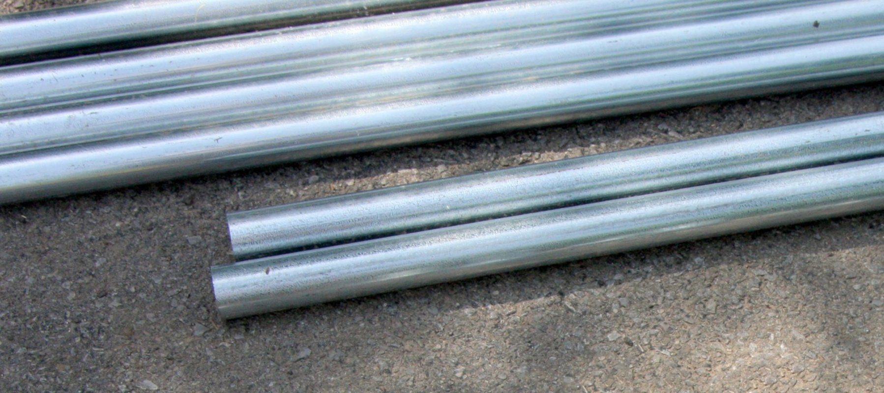 galvanised steel tubing cut to size