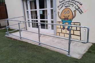Constructing Disabled Access Handrail