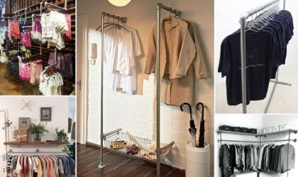 10 Industrial Strength Clothing Rails