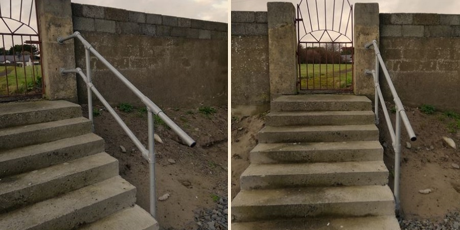 steel railing for steps