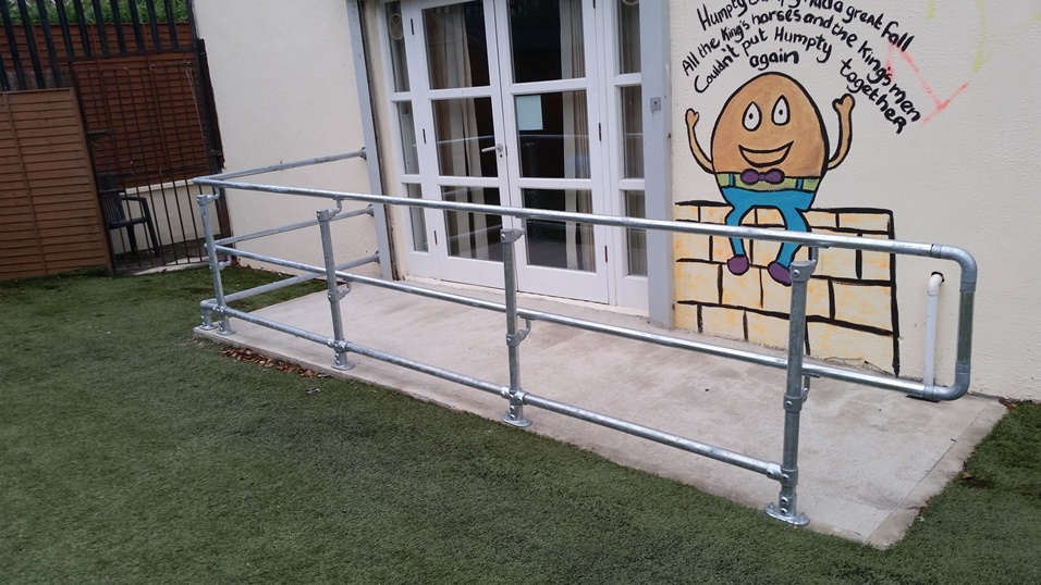 disability handrail for access ramp
