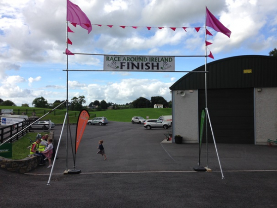Race around ireland custom finish line