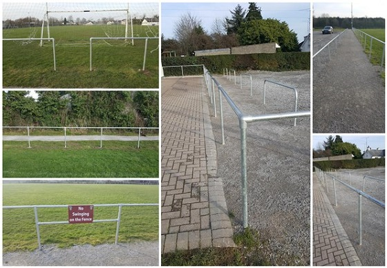 football pitch spectator safety barrier