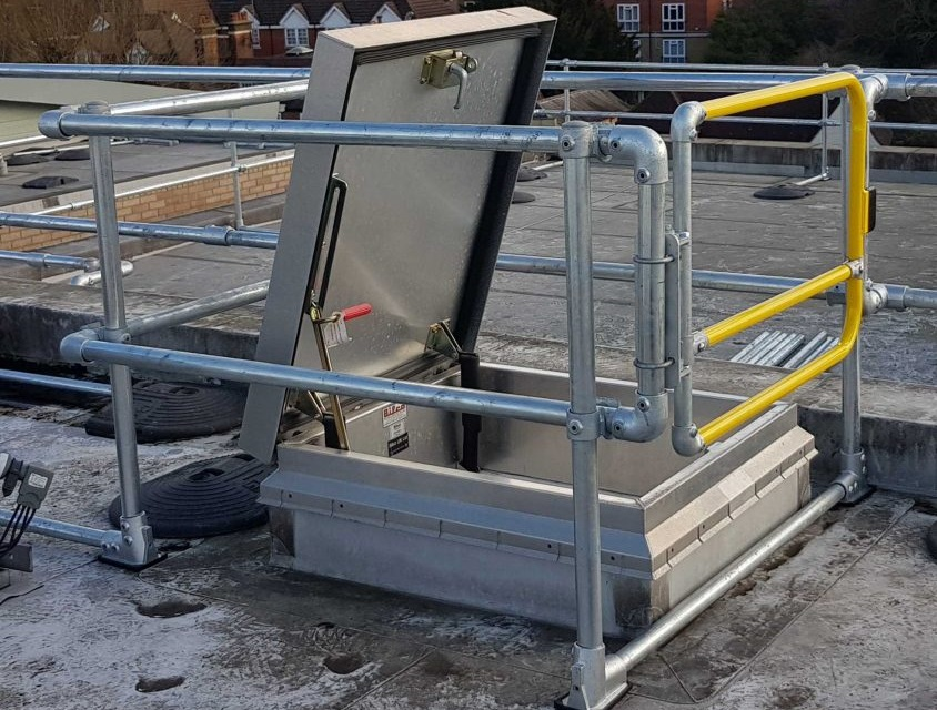 roof hatch safety gate