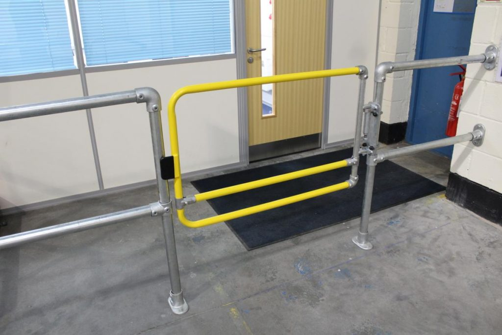 guardrail safety gate for safe access
