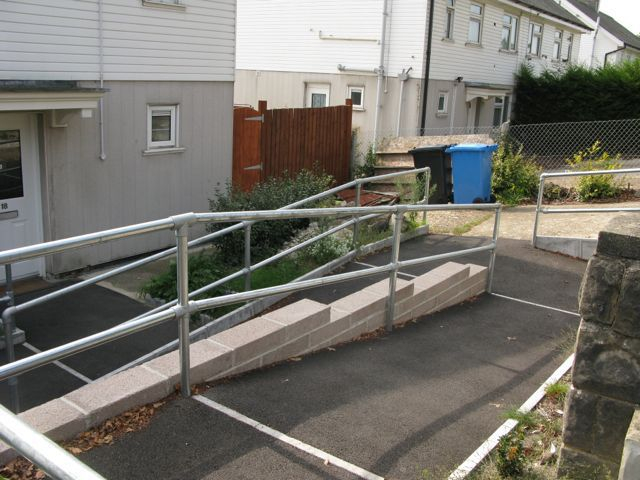steel handrail for ramps