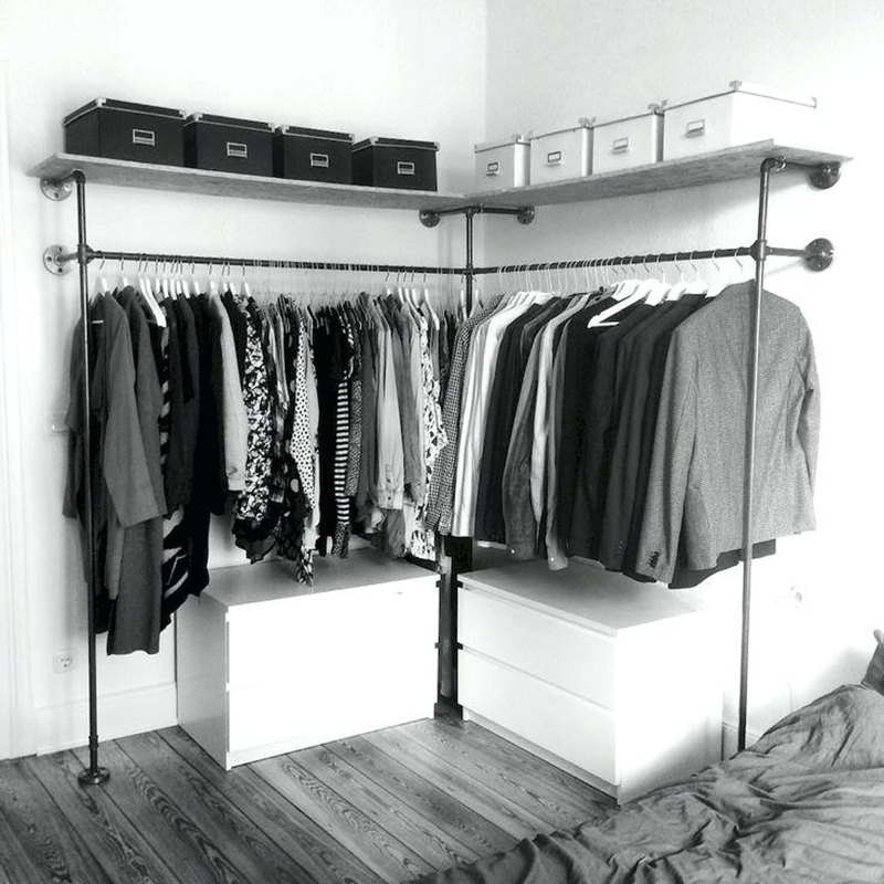 fixed clothes rails