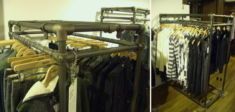 rectangular clothes rail