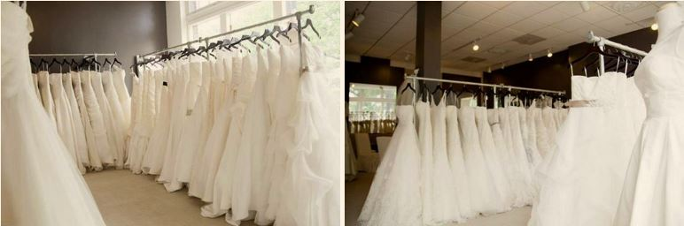 wedding dress rails
