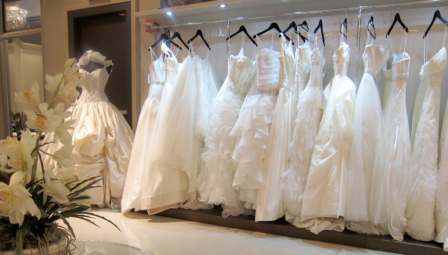 bridal clothes rails