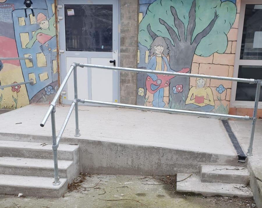 handrail for ramp