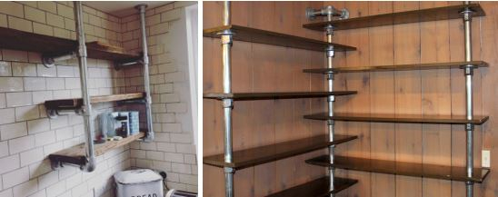 pipe and fittings-custom steel shelving unit
