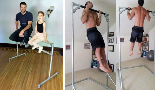 free-standing pull-up bar