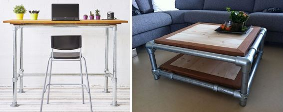 pipe and fittings-industrial steel tables