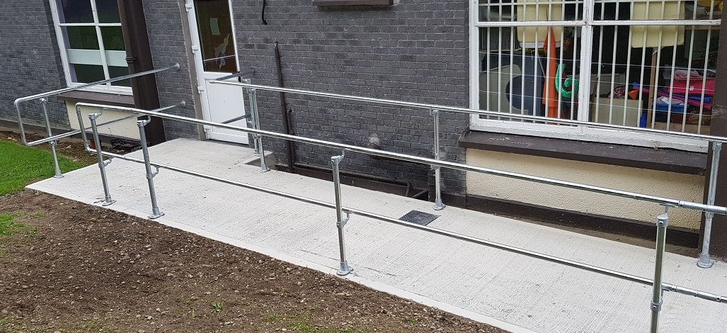 disabled access handrail ramp