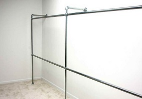 fixed industrial clothes rails