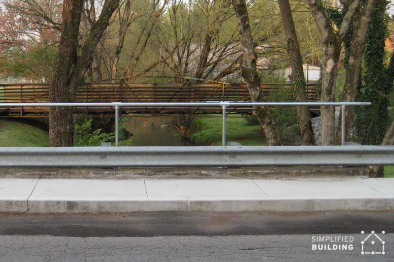 external handrail for bridge