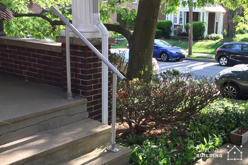 front porch handrail for steps
