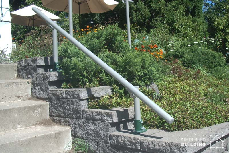 steel handrail for wall