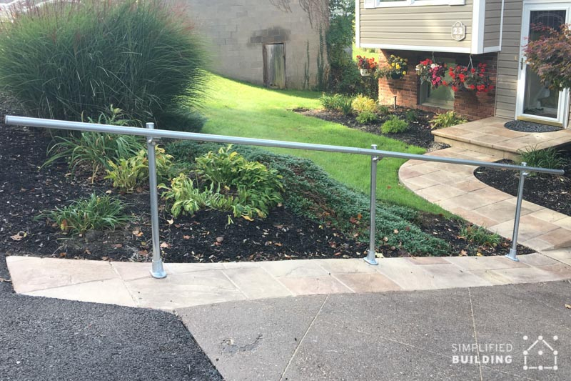 handrail for sloped surface