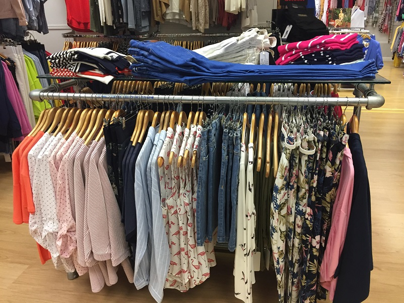 store clothes rack