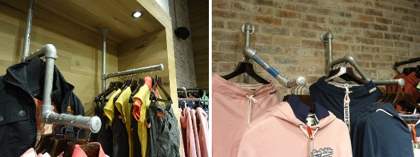 wall mounted clothing rails