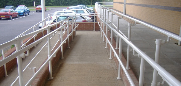 colour coated handrail