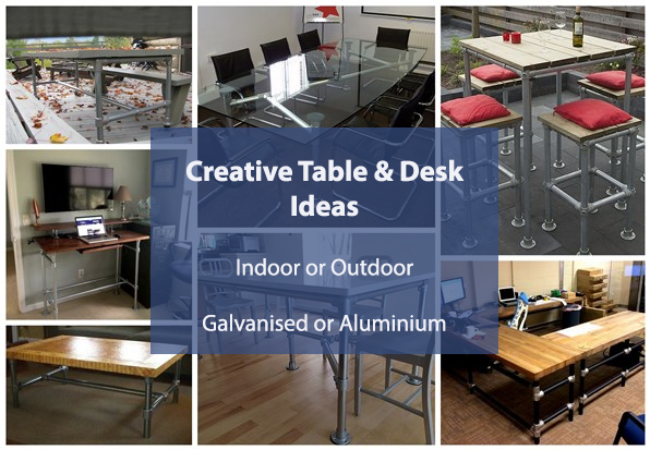 diy table and desks for indoors and outdoors