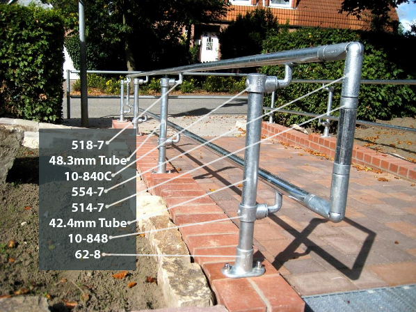 fittings for disability handrail