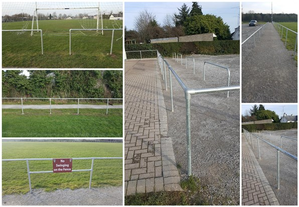 handrail for pitches - simplified building